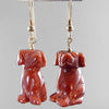 Goldstone Dog Earrings