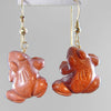 Goldstone Frog Earrings
