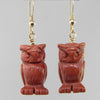 Goldstone Owl Earrings