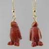 Goldstone Penguin Earrings