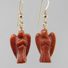 Goldstone Angel Earrings