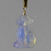 Sea Opal Dog Pendant