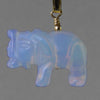 Sea Opal Elephant Pendant