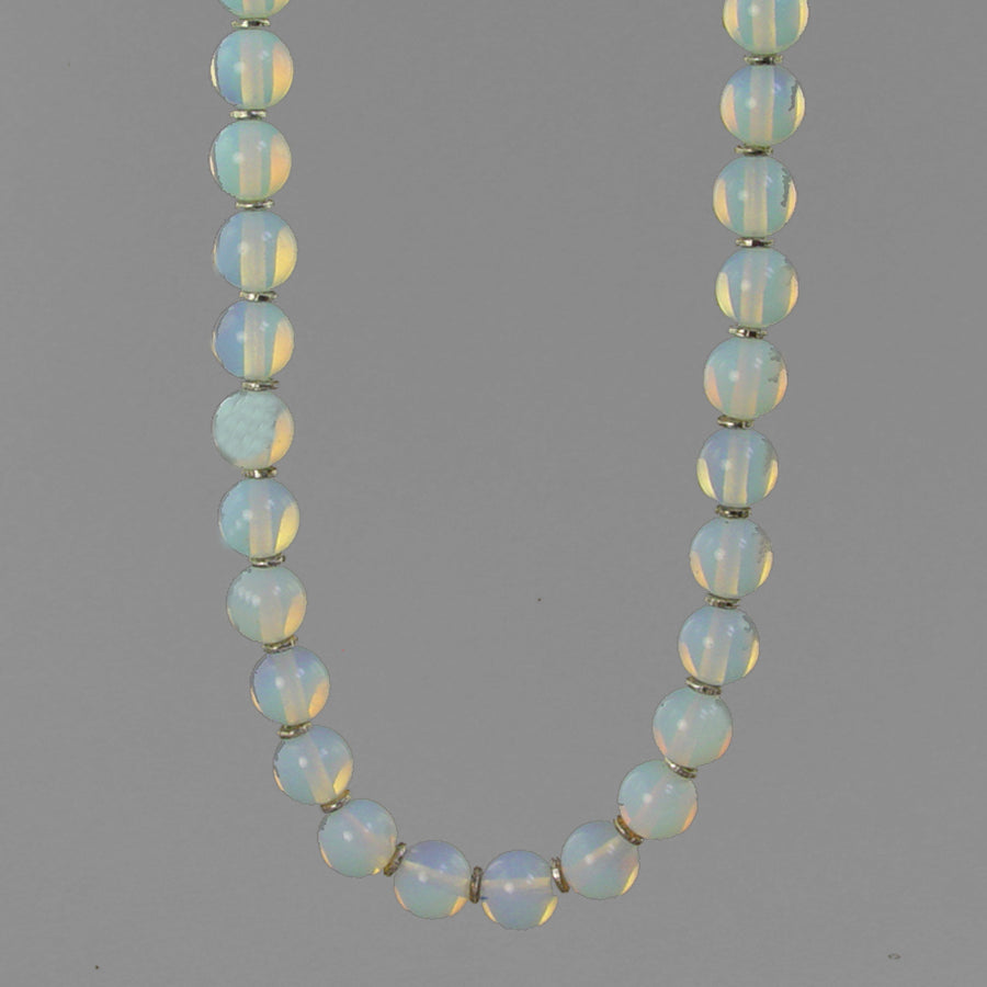 Sea Opal Classic Round Necklace