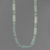 Sea Opal Rectangle Necklace