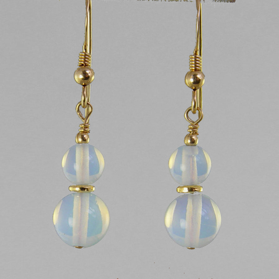 Sea Opal Classic Drop Earrings