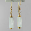 Sea Opal Rectangle Earrings