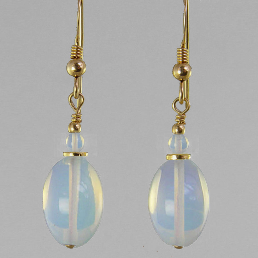 Sea Opal Oval Earrings