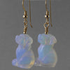 Sea Opal Dog Earrings