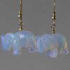 Sea Opal Elephant Earrings