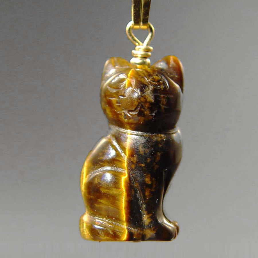Tigereye Cat Pendant