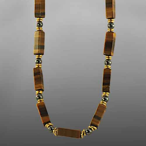 Tigereye Rectangle Necklace