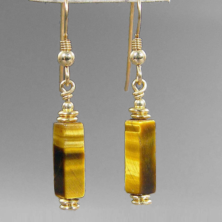 Tigereye Rectangle Earrings