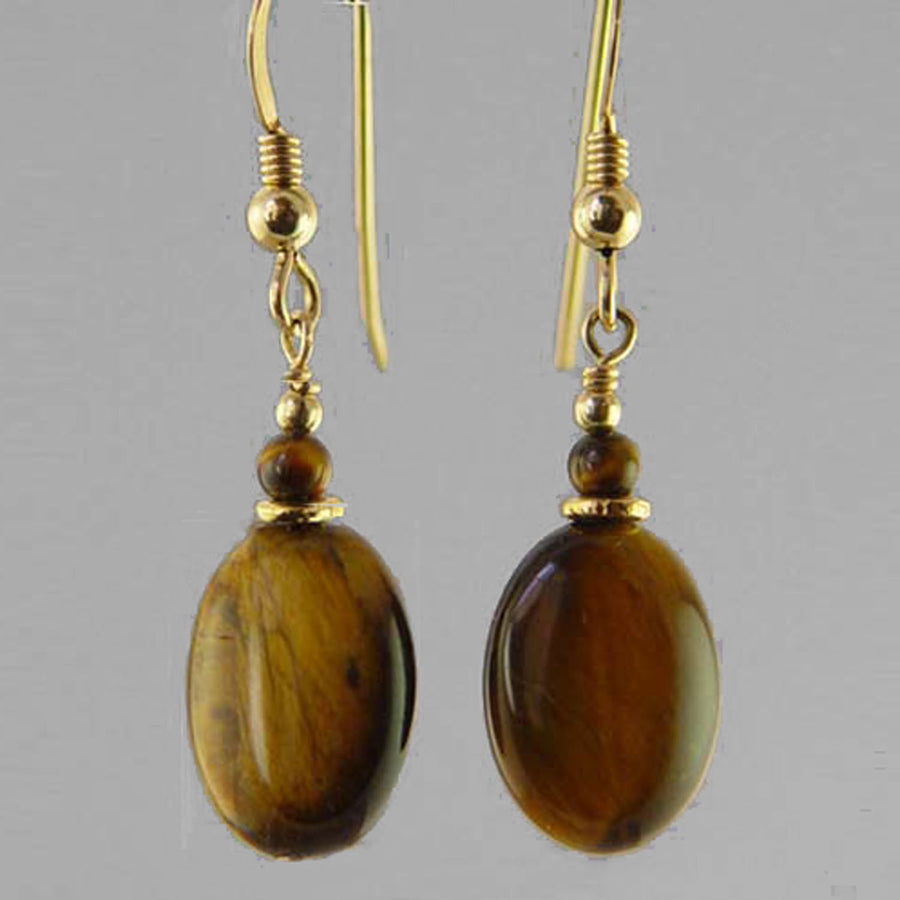 TIgereye Oval Earrings