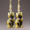 Tigereye Cat Earrings