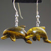Tigereye Dolphin Earrings