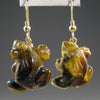 Tigereye Frog Earrings