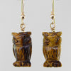 Tigereye Owl Earrings
