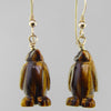 Tigereye Penguin Earrings
