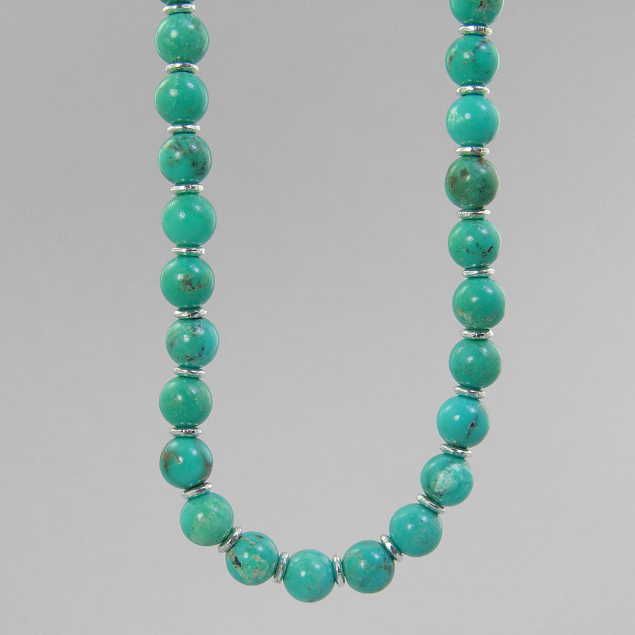 Turquoise Classic Round Necklace