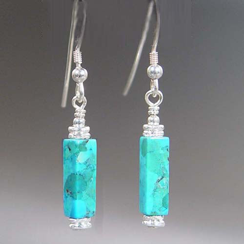 Turquoise Rectangle Earrings