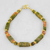 Unakite Rectangle Bracelet