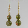 Unakite Classic Drop Earrings