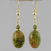 Unakite Oval Earrings