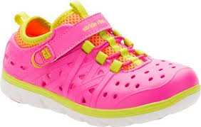 Stride Rite Phibian Pink and Green