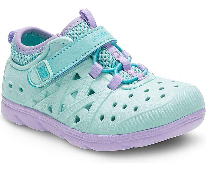 Stride Rite Phibian Turquoise and Purple