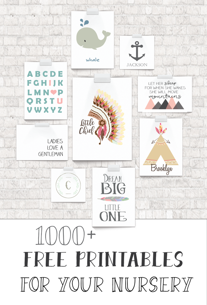 Clever image within free printable nursery art