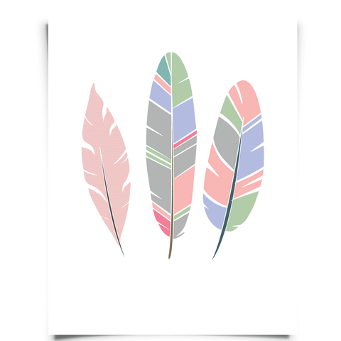 Three Feathers Free Printable
