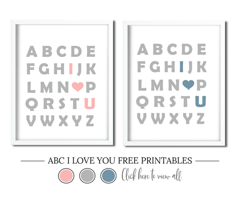 ABC I Love You Wall Art