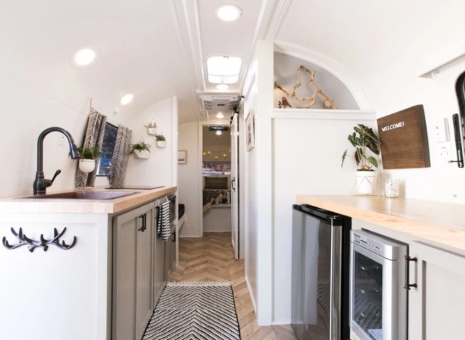 Airstream remodel by Nu Abode