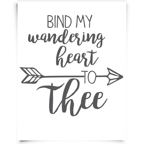 Bind my Wandering Heart to Thee Free Printable