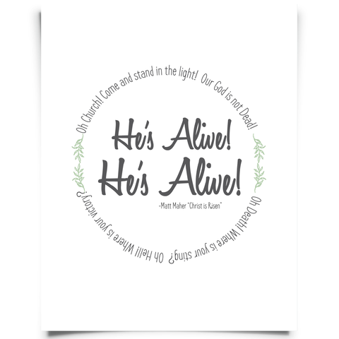 Christ Risen Easter Printable
