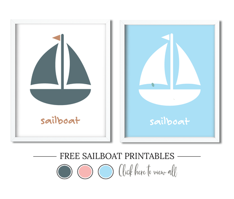 Free Sailboat Printables