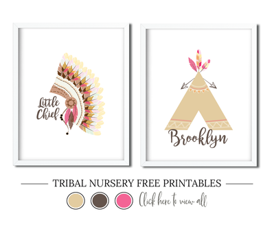 Tribal Nursery Free Printables