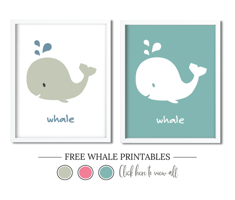 Free Whale Printables