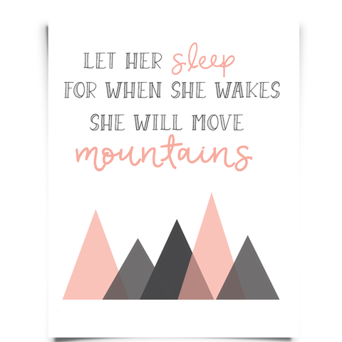Let Sleep Wakes Will Move Mountains Printable
