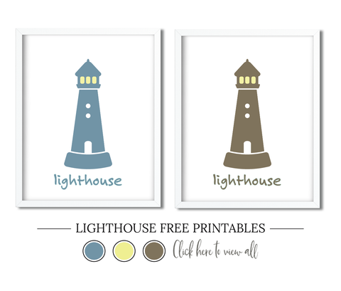 Lighthouse Free Printables