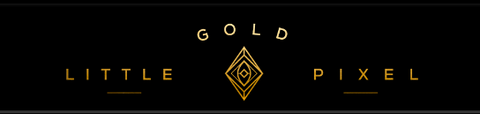 little gold pixel logo