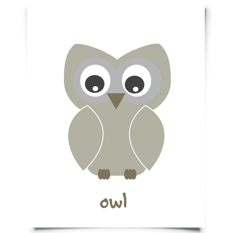 Owl Nursery Art Printable
