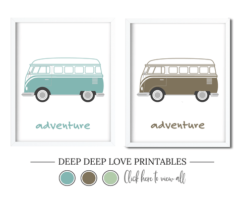 VW Van Free Printable