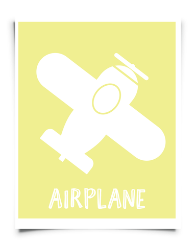 airplane printable nursery art
