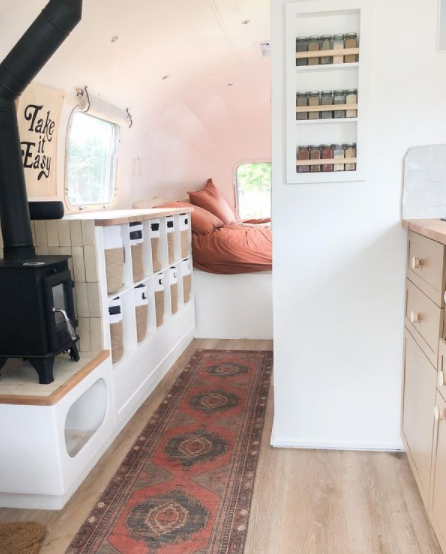 airstream remodel by slow car fast home on IG