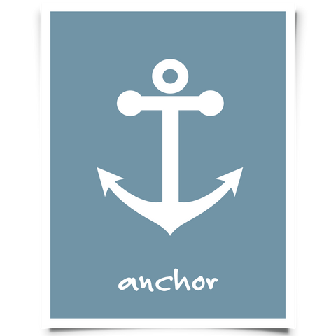 Anchor Art Printable Navy