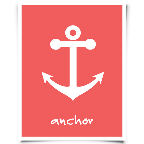 Anchor Art Printable Red