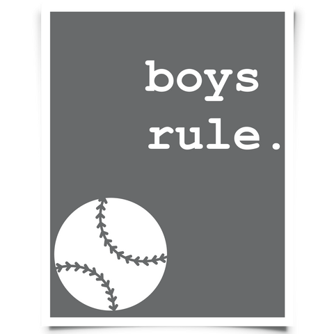 Corner Baseball Printable - Dark Gray