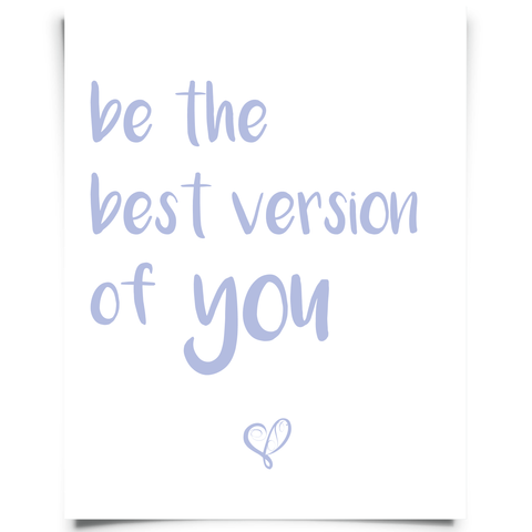 Be the Best Version of You Free Printable - Purple